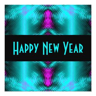 Cartão ano novo de turquesa