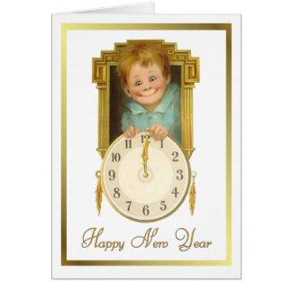 Cartão Ano novo do vintage