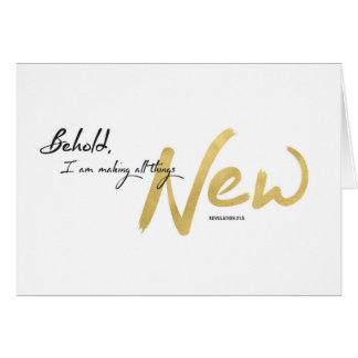Cartão Ano novo, escritura - eu estou fazendo todas as