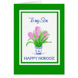 Cartão Ano novo persa dos jacintos bonito para o filho