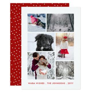 Cartão Ano novo pessoal de feriado de inverno da colagem
