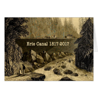 Cartão Anos bicentenários históricos do canal de Erie