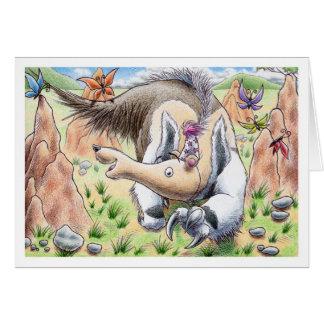 Cartão Anteater do aniversário