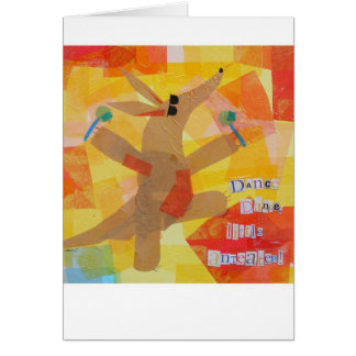 Cartão Anteater pequeno da dança da dança