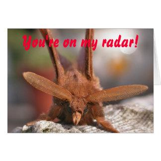 Cartão Antenas da traça dos namorados: Você está em meu