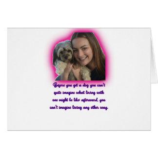 Cartão Antes que você obtiver um cão