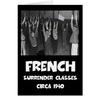 Cartão Anti francês engraçado