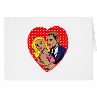 Cartão anti namorados do vintage