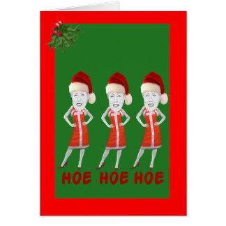 Cartão Anti Natal engraçado de Hillary