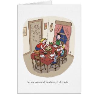 Cartão Anti-Tofurkey acção de graças