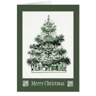 Cartão antigo da árvore de Natal