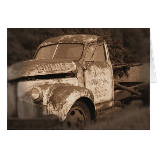 Cartão antigo do caminhão