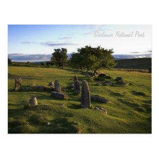 Cartão antigo do pagamento de Dartmoor