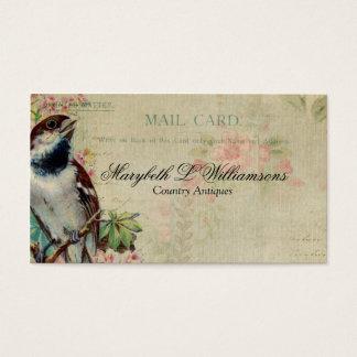 Cartão antigo do pássaro do vintage