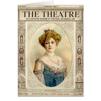 Cartão antigo sobre o teatro