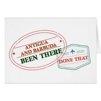 Cartão Antígua e Barbuda feito lá isso