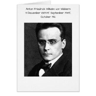 Cartão Anton Friedrich Wilhelm von Webern