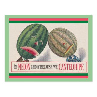 CARTÃO ANTROPOMÓRFICO da chalaça dos melões