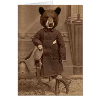 Cartão antropomórfico da desculpa do urso