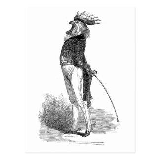Cartão antropomórfico do galo de Grandville
