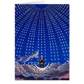 """Cartão:  Anúncio Astra - """"para as estrelas """""""