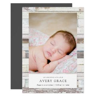 Cartão Anúncios de madeira afligidos do nascimento