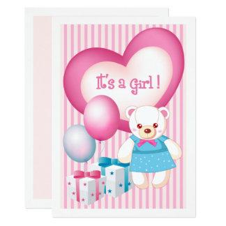Cartão Anúncios do nascimento do bebé do design do urso