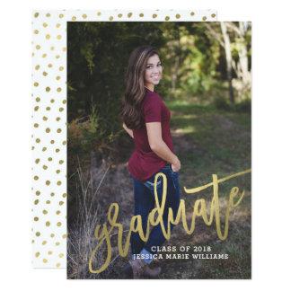 Cartão Anúncios Dotty da graduação do ouro