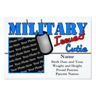 Cartão Anúncios emitidos militares do nascimento de Cutie