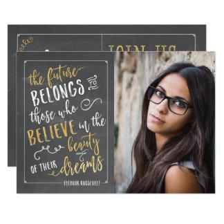 Cartão Anúncios modernos da graduação da foto da