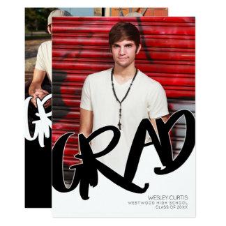 Cartão Anúncios modernos da graduação dos grafites