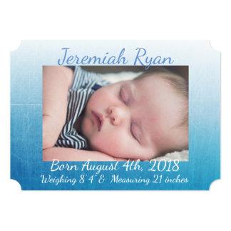 Cartão Anúncios personalizados do nascimento da foto do
