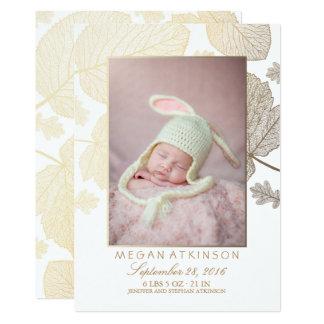 Cartão Anúncios recém-nascidos do nascimento da foto do