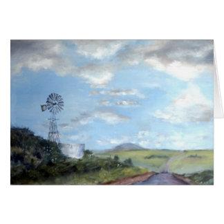 Cartão Ao longo da estrada rural