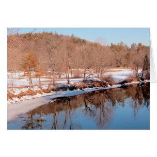 Cartão Ao longo do rio de Ashuelot