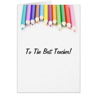 Cartão Ao melhor professor