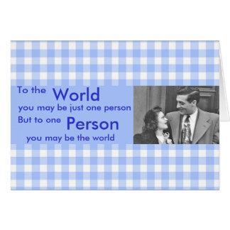 Cartão Ao mundo você pode ser uma pessoa