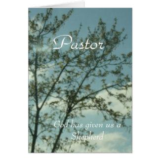 Cartão Ao pastor