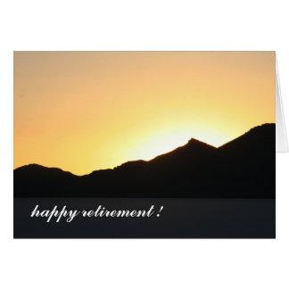 Cartão ao por do sol