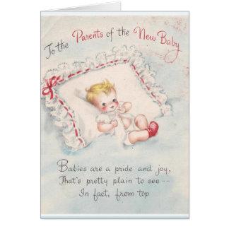 Cartão Aos pais do bebê novo