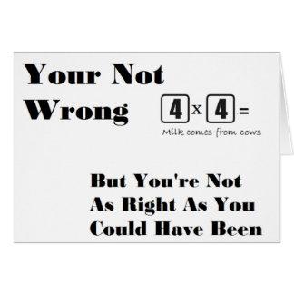 """Cartão Apenas algum aleatório """"seus"""" artigos nao errados"""