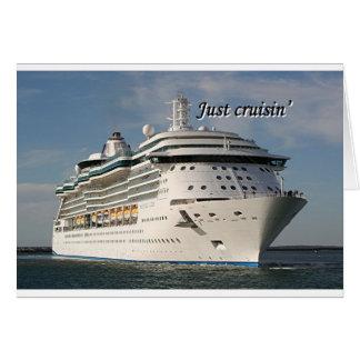 Cartão Apenas navio de cruzeiros 3 de cruisin':