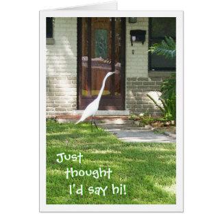 Cartão Apenas pensou que eu diria olá!!