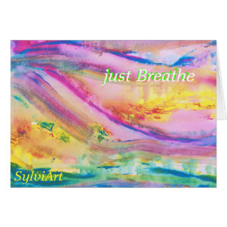 """Cartão """"apenas respire"""" o cartão, direitos reservados"""