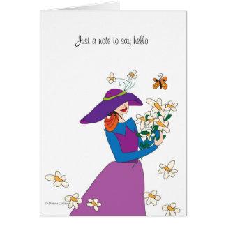 Cartão Apenas uma menina do daisey da nota