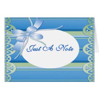 Cartão Apenas uma nota Notecard