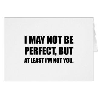 Cartão Aperfeiçoe-o não
