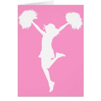 Cartão Aplausos do cheerleader com fundo customizável