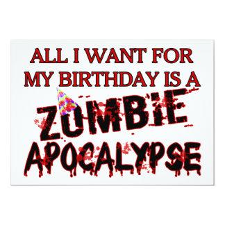 Cartão Apocalipse do zombi do aniversário