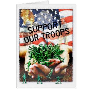 Cartão Apoie nossas tropas